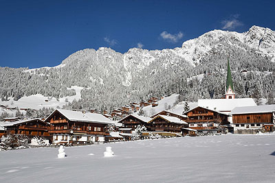 Alpbach village by train
