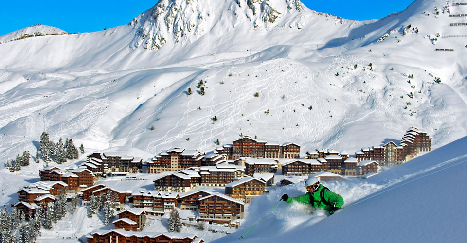 Photo: La Plagne Tourisme - village and slopes
