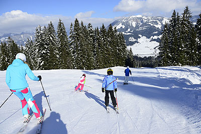 St Johann family ski by train