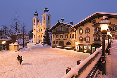 Ski holiday by train to St Johann
